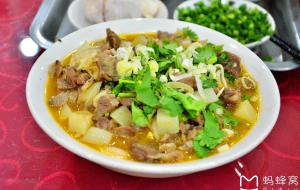 西北美食-乔沟湾老婆婆干羊肉剁荞面