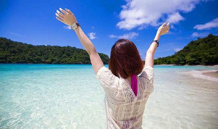 甲米兰塔岛出发 四岛一日游 奈岛bubu岛皮岛talabeng岛 浮潜