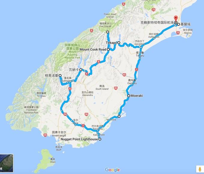 足迹在南岛地图上画