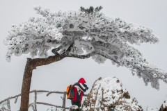 山中赏雪,云雾缭绕的仙境