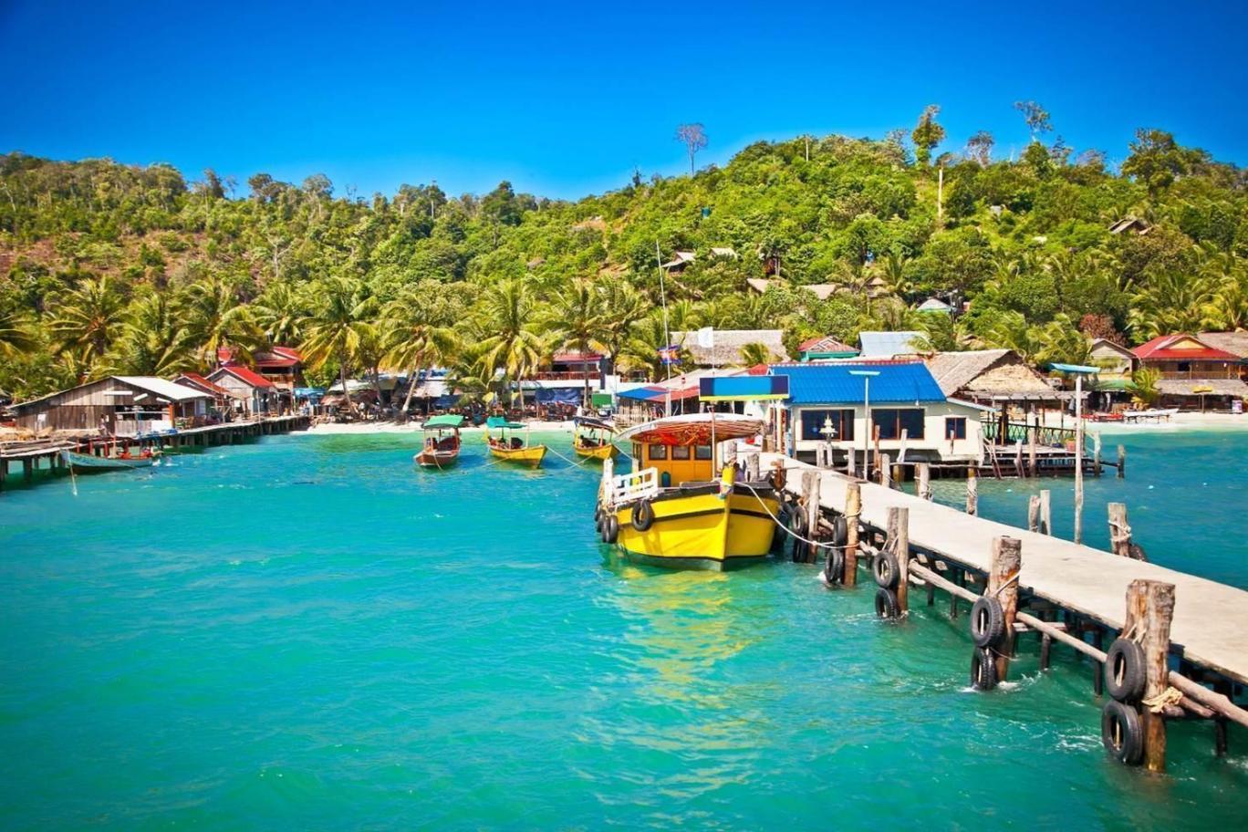 高龙岛总面积约78 平方公里,位于泰国湾东北部,距离西哈努克约30分钟