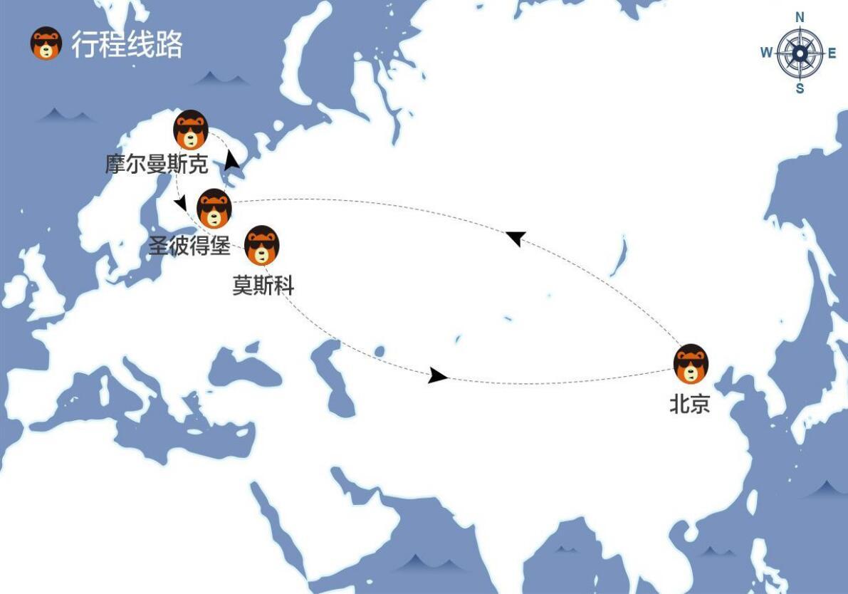 【极光之旅】北京直飞俄罗斯8日跟团游(摩尔曼