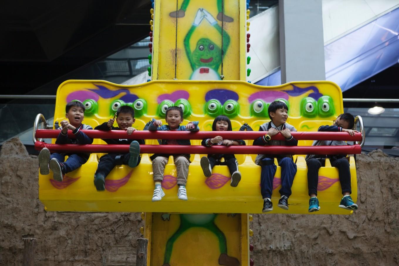 演出剧院内有很多可供儿童玩耍的娱乐设施