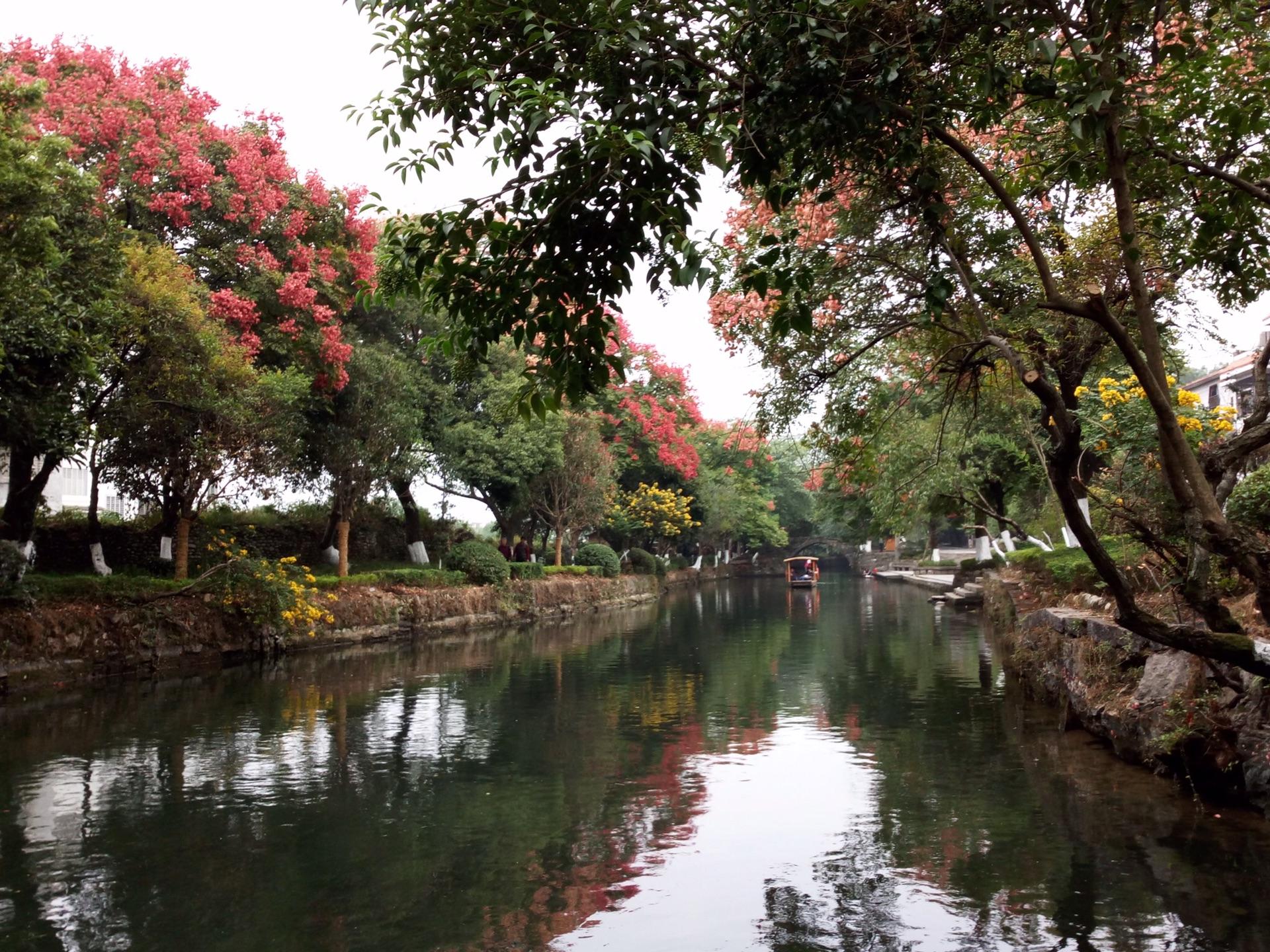 幽静秀美的桂林兴安水街