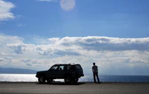【博乐图片】我与小切的塞里木湖。。