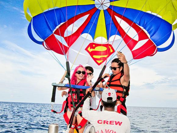 【长滩岛主推荐】海上滑翔伞拖拽伞降落伞水上活动(parasailing)