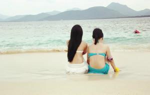 【蜈支洲岛图片】[三亚]北纬18°,两姐妹儿也去看了大海~