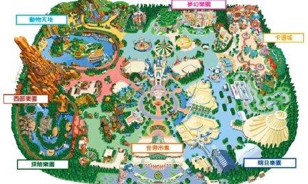 点击查看大图         迪士尼游乐园面积并没有特别特别的大(面积比
