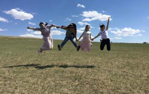 【根河图片】向往已久的蓝天白云—奔跑在草原上的我们