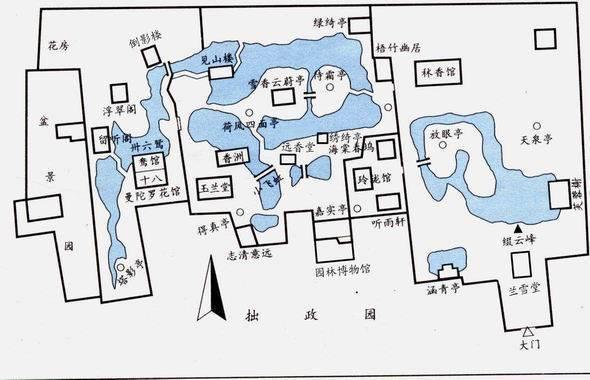 拙政园平面图
