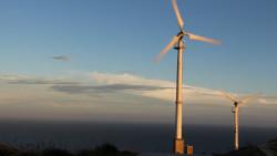 东极岛景点-风力发电大风车