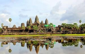 【吴哥窟图片】柬埔寨---灿烂的吴哥文明    迷人的高棉微笑