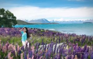 """【但尼丁图片】新西兰,行走在""""乡间""""的小路上---流儿妈Violina&流儿爸"""