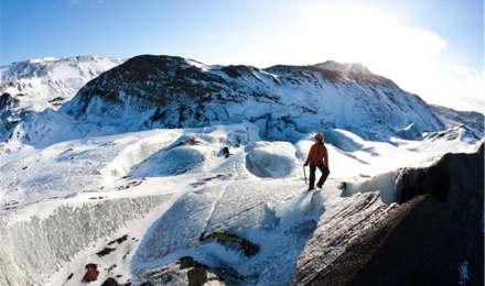 冰岛南岸索尔黑马冰川徒步 攀冰中等难度(可选雷克雅未克往返)